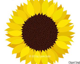 Yellow Flower clipart sunflower Clipart Clipart clip Digital Digital
