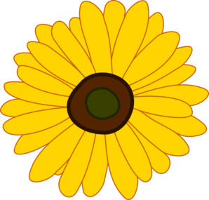 Yellow Flower clipart sunflower  Clip Sunflower vector clip