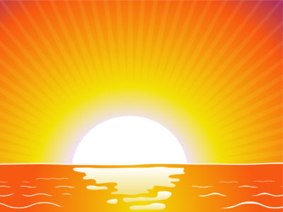 Morning clipart sunrise beach Pictures Clipartix clipart powerpoint backgrounds