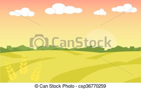 Farm clipart natural environment Landscape Clipart Vector illustration illustration