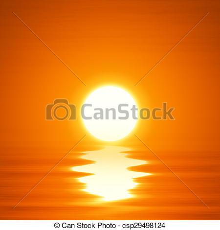 Ocean clipart ocean sunset Ocean of ocean csp29498124 sunset