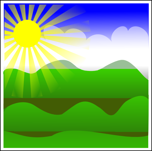 Beautiful clipart sunny day Art this  Clker art