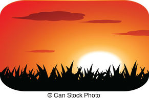 Sunset clipart  sunset Sunset Illustrations with