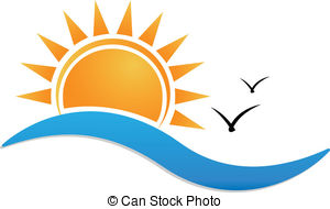 Sunset clipart Logo Illustrations and Sunset background