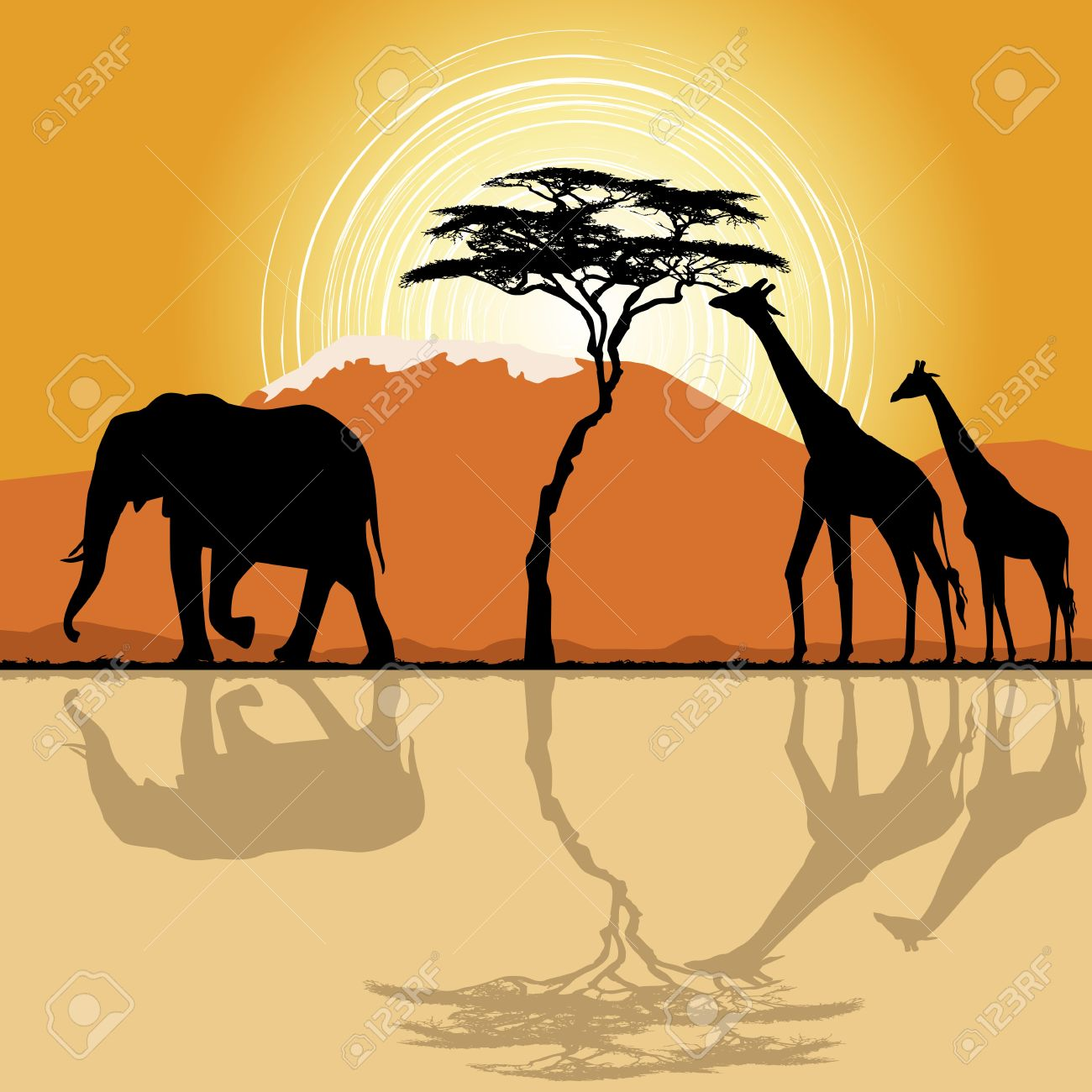 Savannah clipart african savanna #2