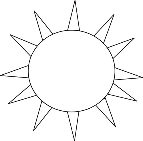 Monochrome clipart sun Clipartfest clipart happy black Sun