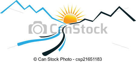 Mountain clipart mountain sun Concept of of with logo