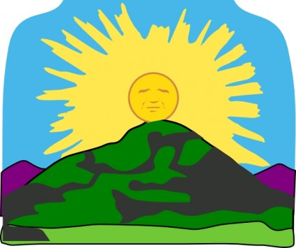 Mountain clipart mountain sun Panda Clip Free Art Mountain