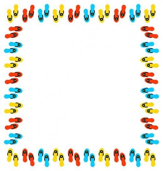 Sandal clipart border #2
