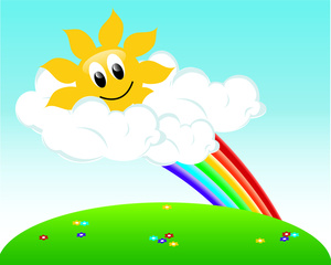Beautiful clipart beautiful weather With Day Spring  Clouds