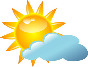Clouds clipart cloudy weather Or Clipart Partly Icon Sunny