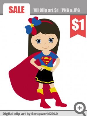 Super Girl clipart  girl superheroes super superheroes