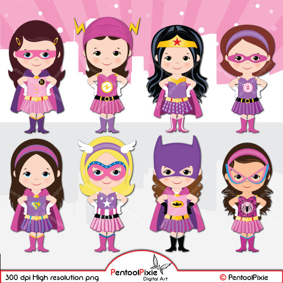 Pink clipart batgirl Girl This clipart Pink a