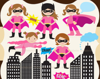 Batgirl clipart printable pink Download Art Free Etsy clipart