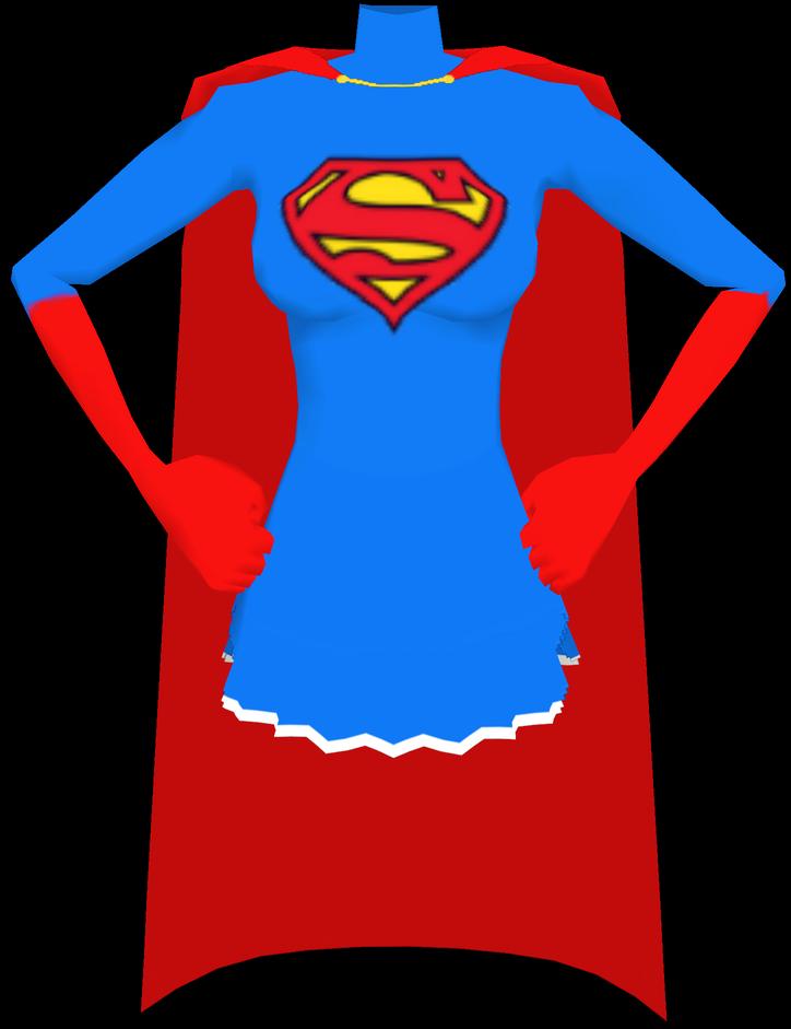 Super Girl clipart cape Gloves Front Cape Image Front