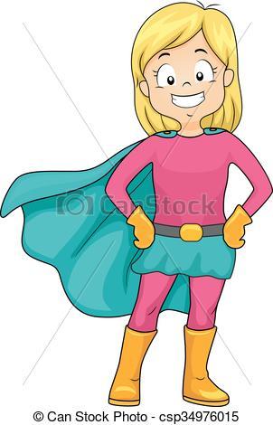 Super Girl clipart cape Super Hero Hero  Clip