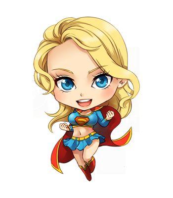Super Girl clipart chibi By  Quinn harley KARIS