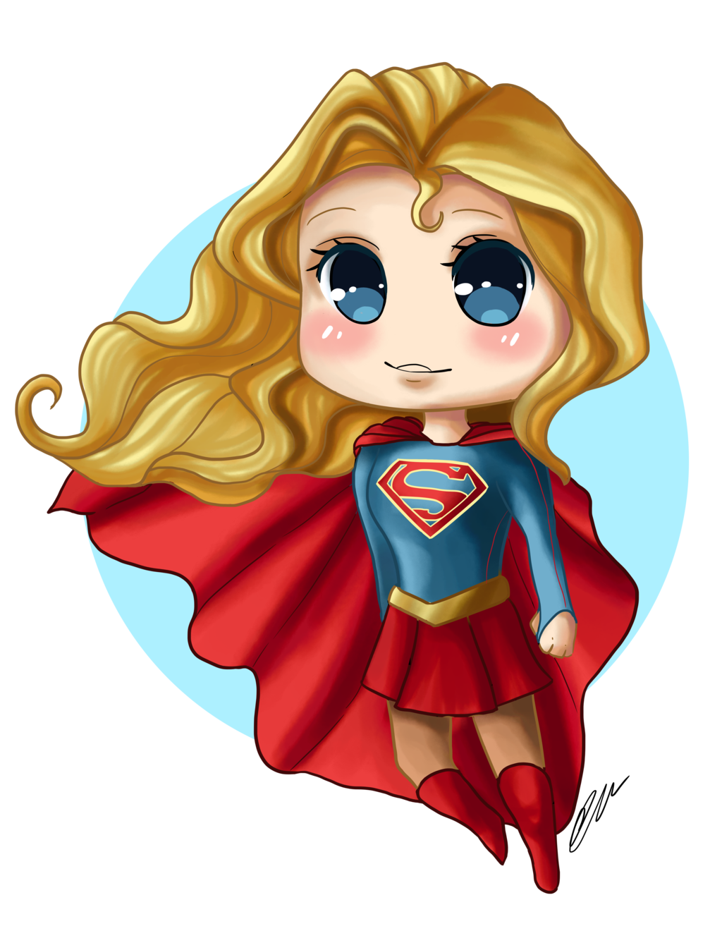 Super Girl clipart chibi Artbox99 on by Supergirl Supergirl