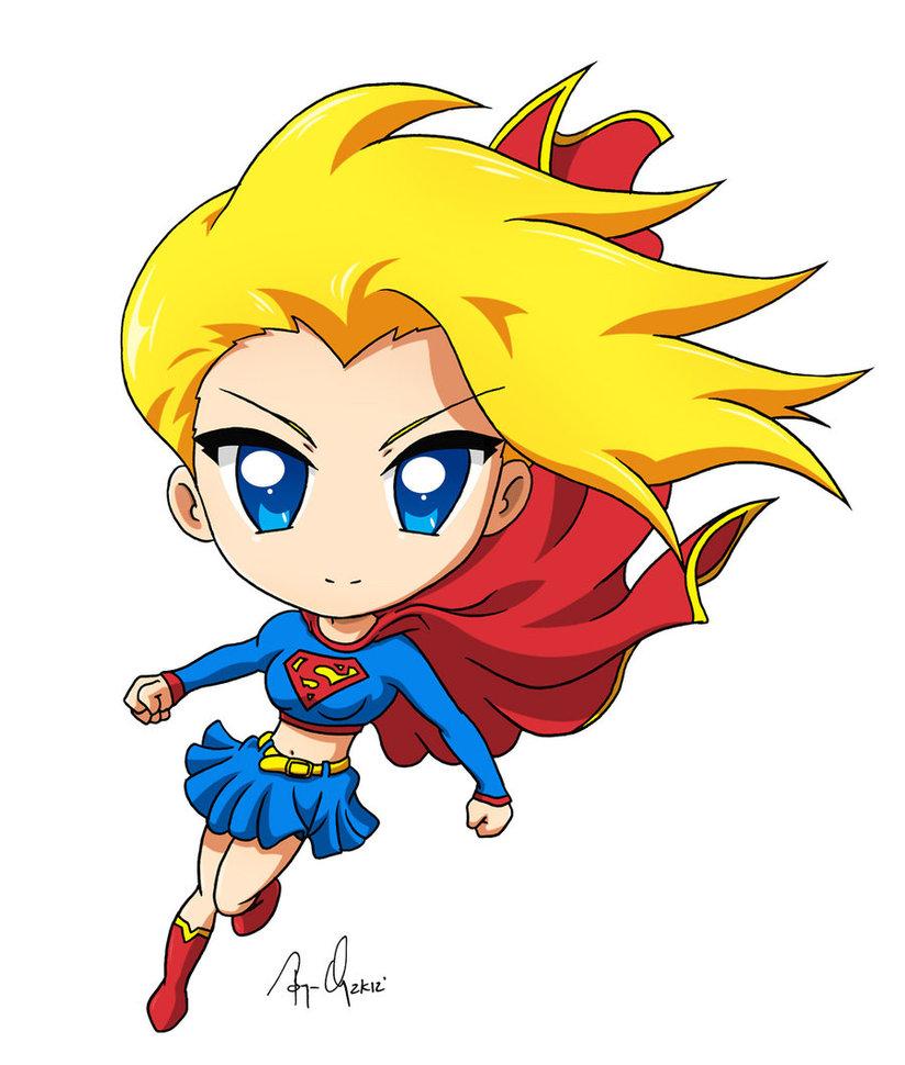 Super Girl clipart chibi Krnozine krnozine colored Chibi Supergirl