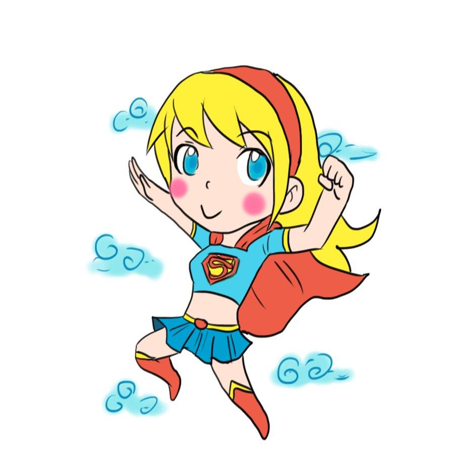 Super Girl clipart chibi Sauce Sauce Ray chibi Supergirl