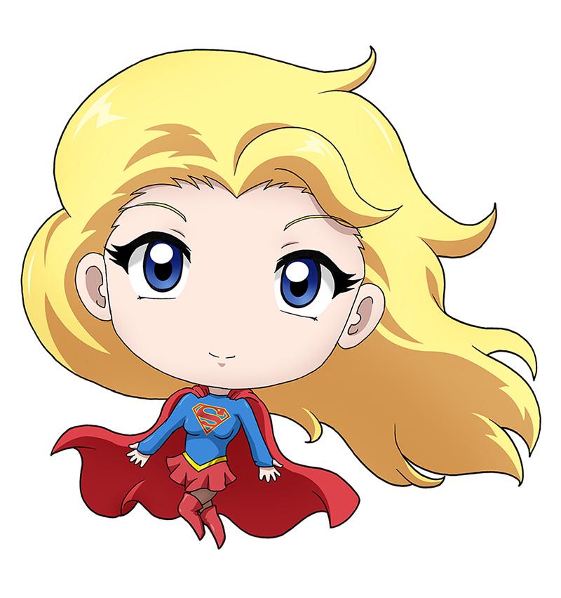 Super Girl clipart chibi By version) DeviantArt series (TV