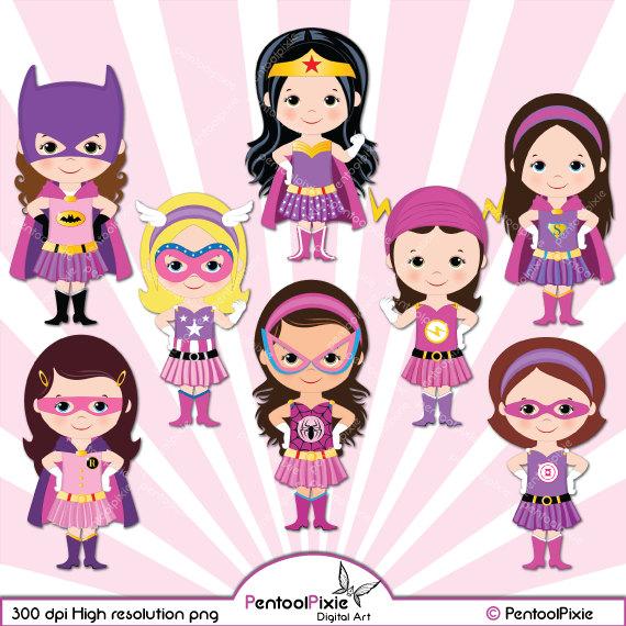Pink clipart batgirl Clipart Super Supergirl woman Superhero