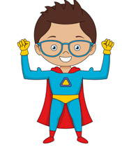 Geography clipart cute Child  wearing Kb Superhero