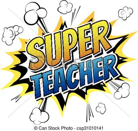 Super Girl clipart supe teacher – Teacher Super 06 Clipart
