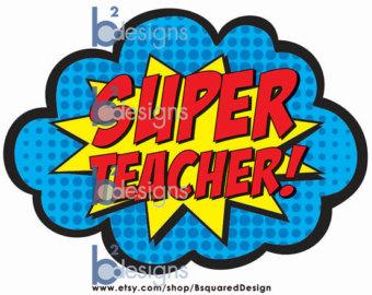 Super Girl clipart supe teacher – Teacher Super 15 Clipart