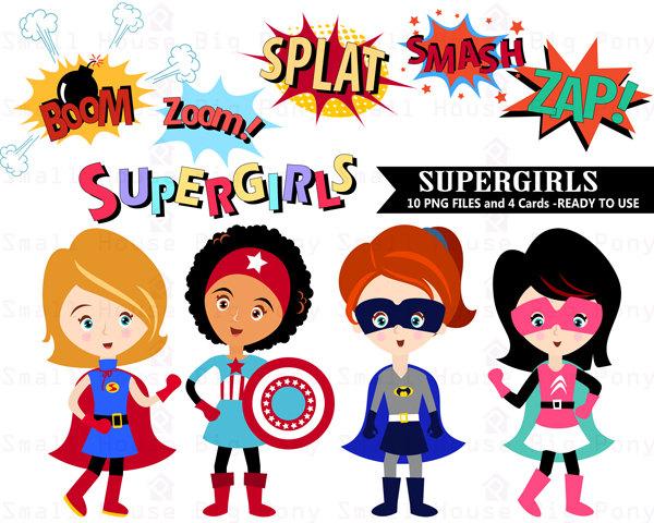Super Girl clipart supe teacher Clip clip Commercial  Clipart