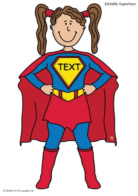 Super Girl clipart supe teacher Editable GIRL this FREE Superheroes