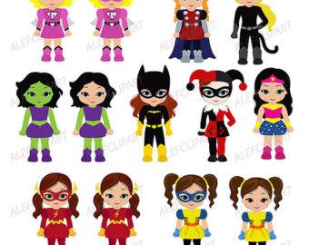 Super Girl clipart superboy Boys Girls Girls Clipart Superhero