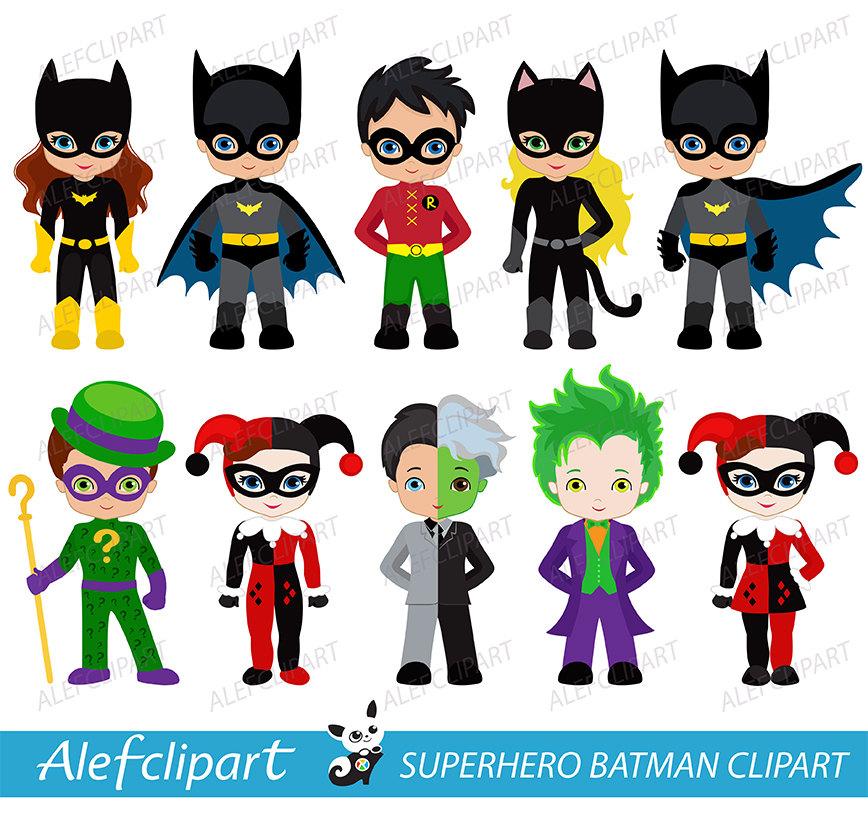 Superhero Girl Clipart: villains collection