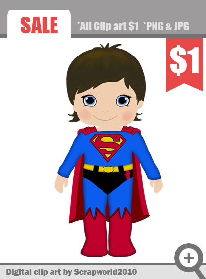 Superman clipart hero Kid girl kid clipart clipart