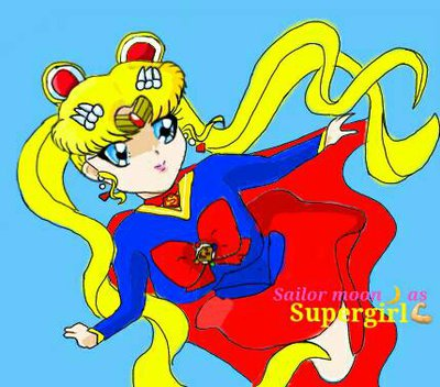 Super Girl clipart supr FangirlUniverse Sailor as Supergirl by