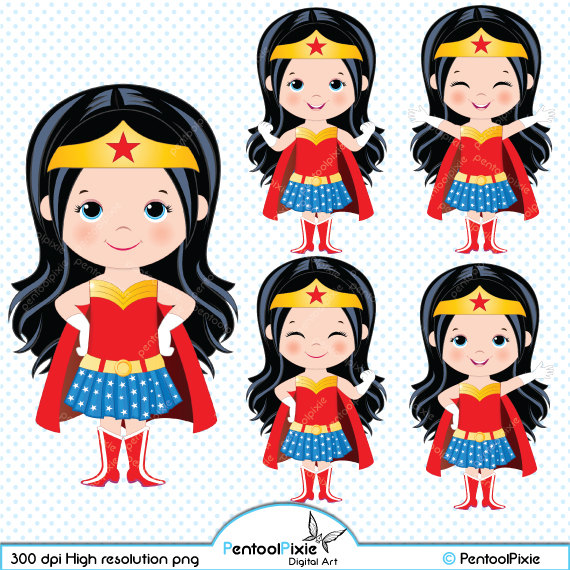 Catwoman clipart wonder woman Etsy Wonder woman collection clipart