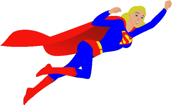 Supergirl clipart Cliparts Flying Supergirl Clipart Supergirl