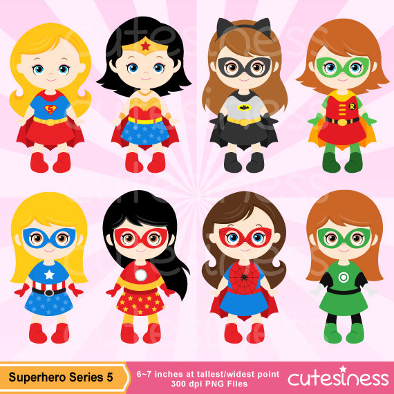 Super Girl clipart brave person Girl Clipart Superhero Etsy Supergirl