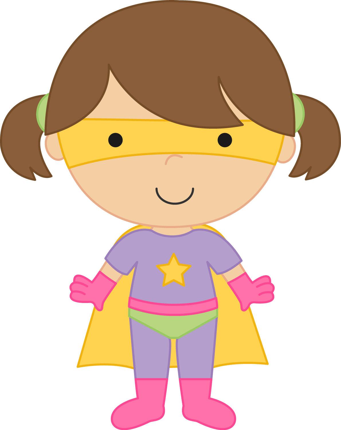 Supergirl clipart Clipart kid Super 2 girl