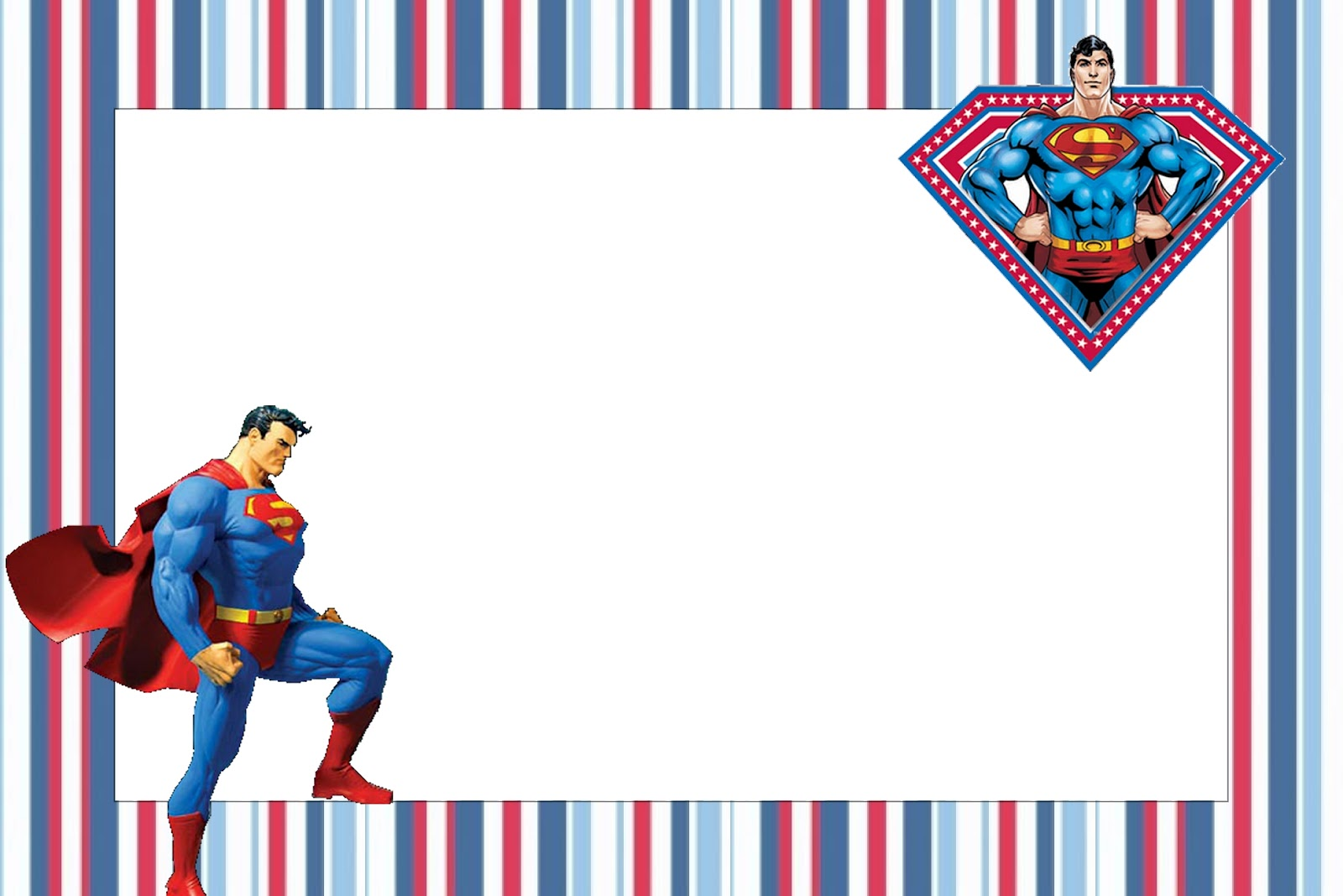 Superman clipart border Superman Invitations Printable Free Invitations