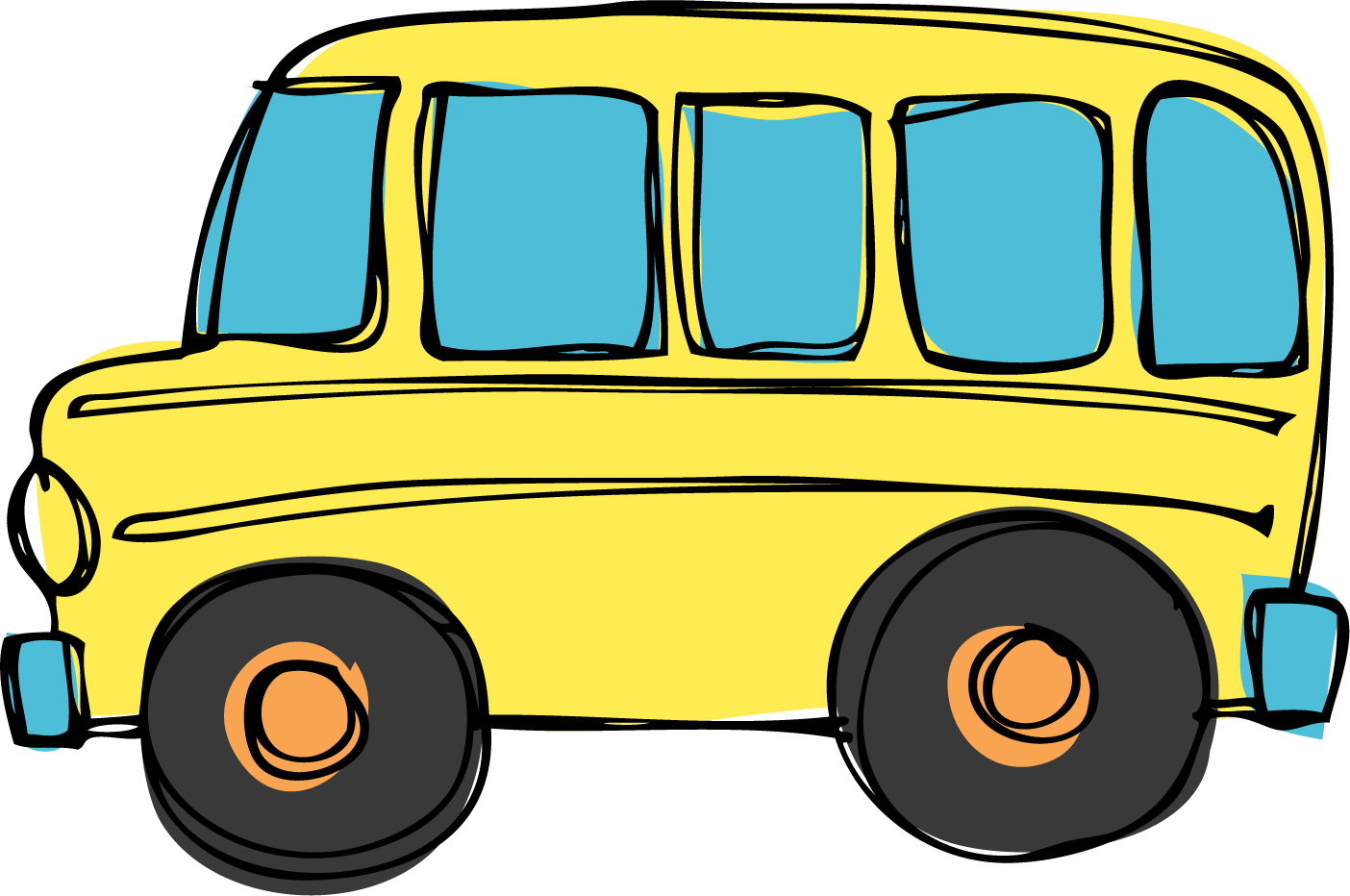 Vacation clipart bus Border bus superman clipart clipart