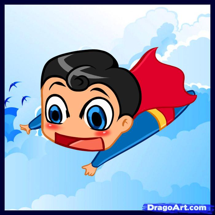 Drawn superman cartoon character Draw Step How Draw by