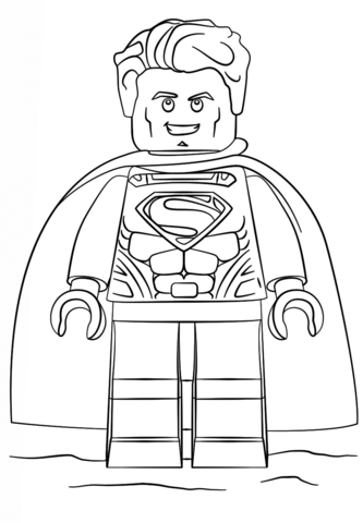 Superman clipart coloring sheet Superman Lego printable Pages page