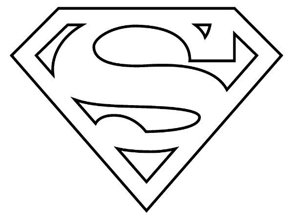 Superman clipart coloring sheet Page Coloring Page Pinterest Logo
