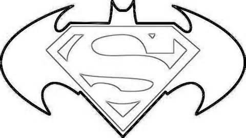 Superman clipart coloring sheet Logo Superman Logo Superman Page