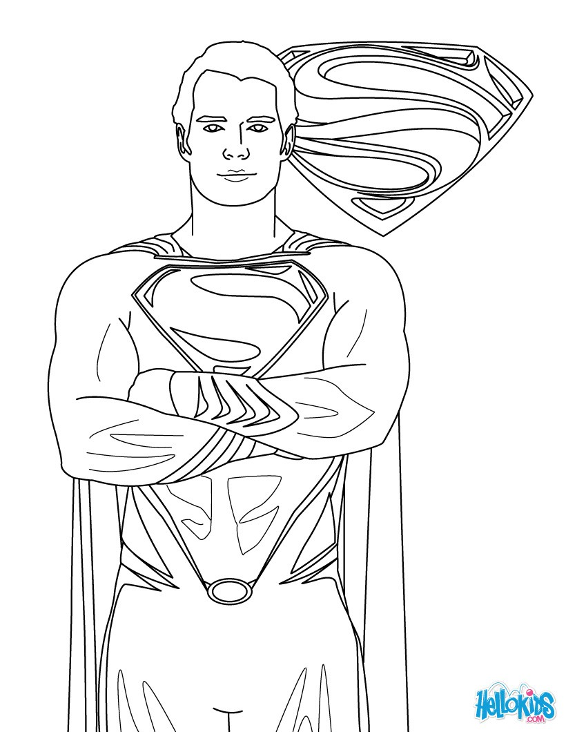 Superman clipart coloring sheet Page Coloring free coloring pages