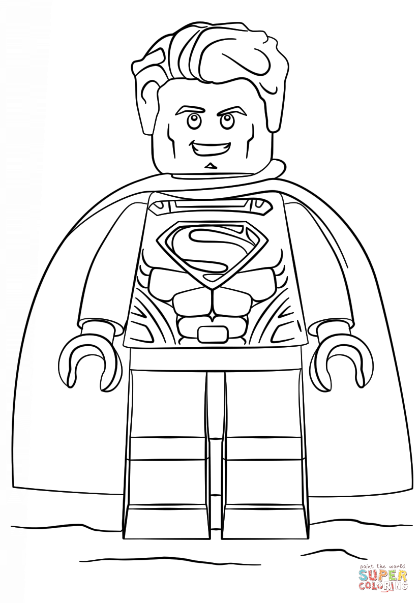Superman clipart coloring sheet Pages view Free to Superman