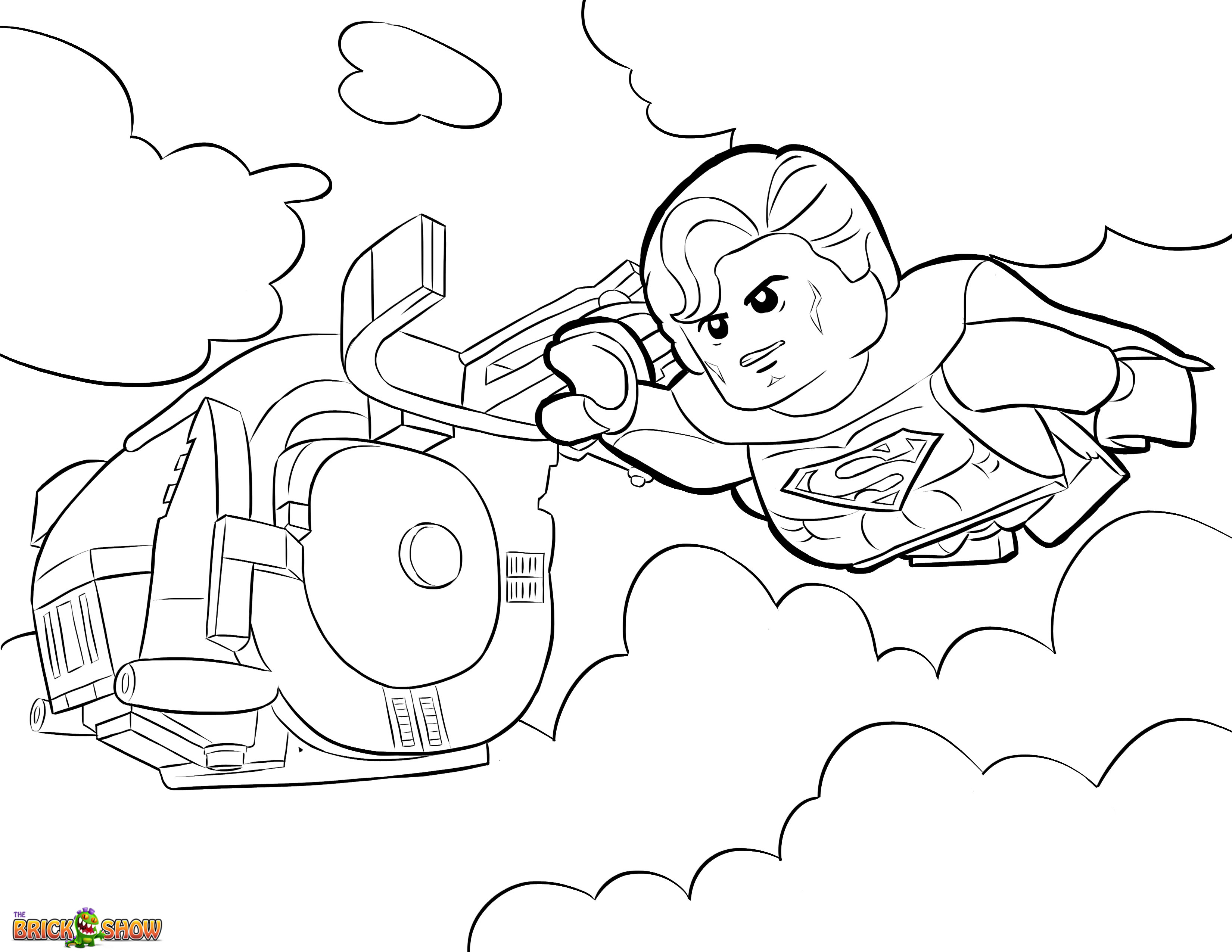 Superman clipart coloring sheet Printable Page With superman Coloring