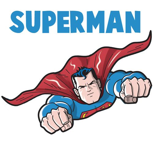 Superman clipart drawn Ideas to on How Step
