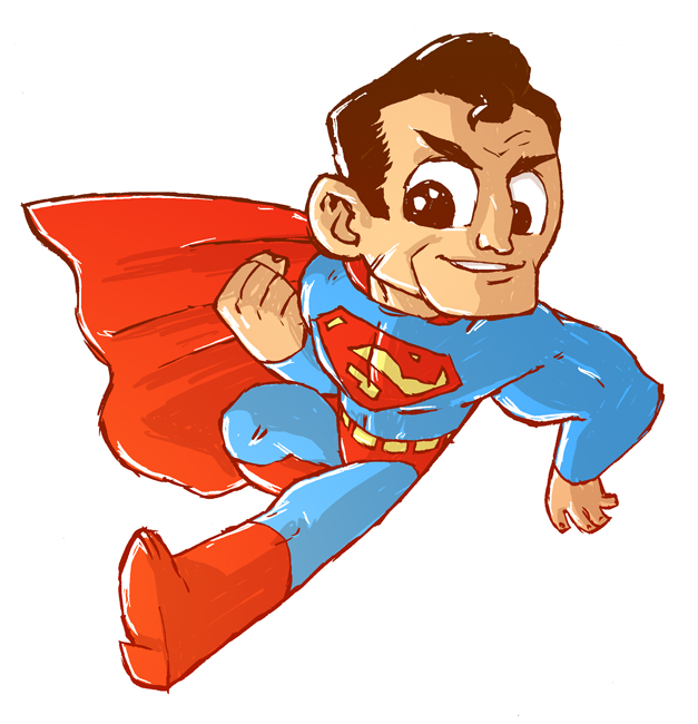 Superman clipart drawn Superman Free Images Superman Cartoon